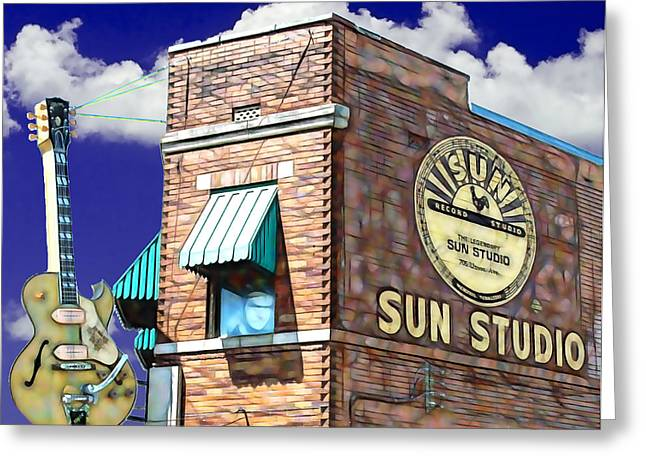 Presley Greeting Cards - Sun Studio Collection Greeting Card by Marvin Blaine