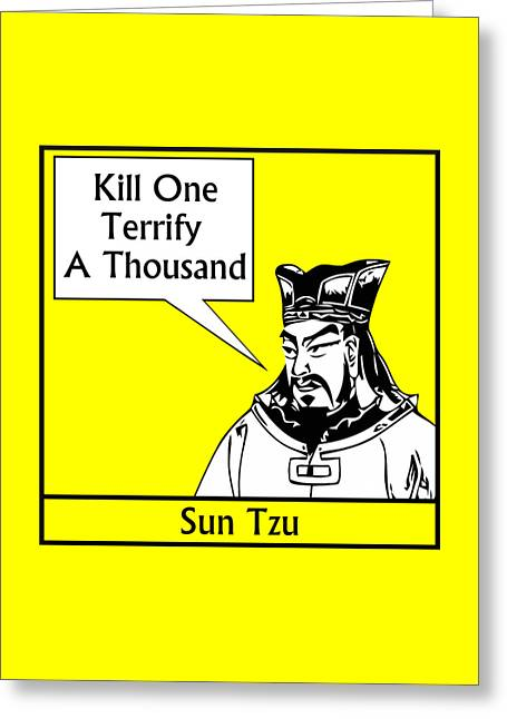 Asian Culture Greeting Cards - Sun Tzu Greeting Card by War Is Hell Store