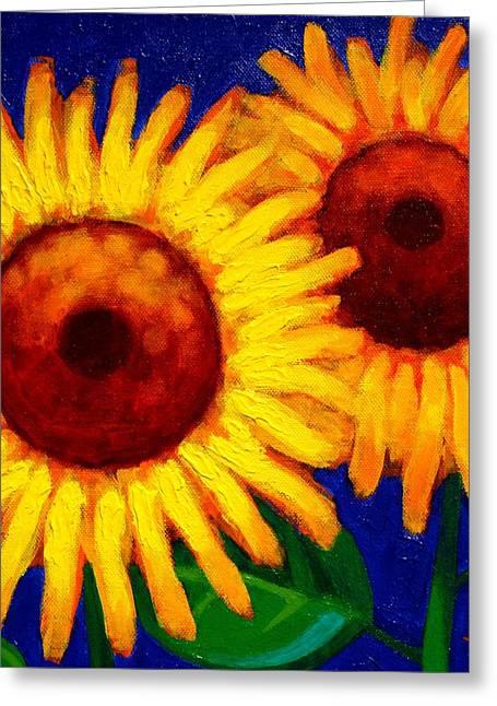 Print Card Greeting Cards - Sunflower Duet  Greeting Card by John  Nolan
