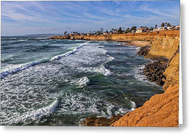 Point Loma Greeting Cards - Sunset Cliffs 2 Greeting Card by Peter Tellone