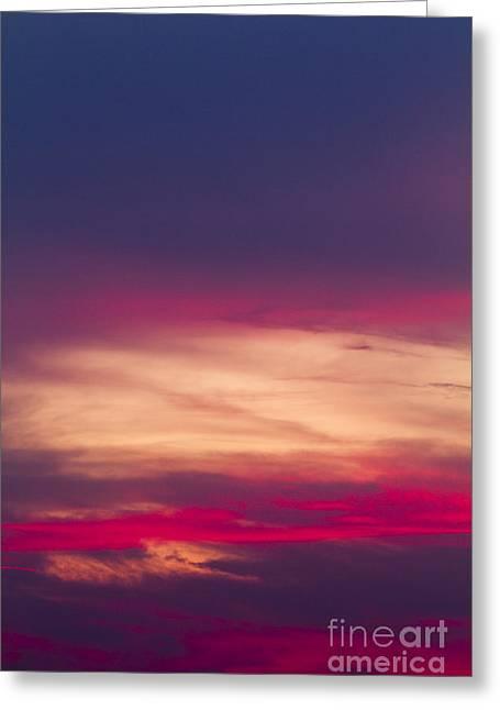 Coloured Greeting Cards - Sunset Greeting Card by Dan Radi