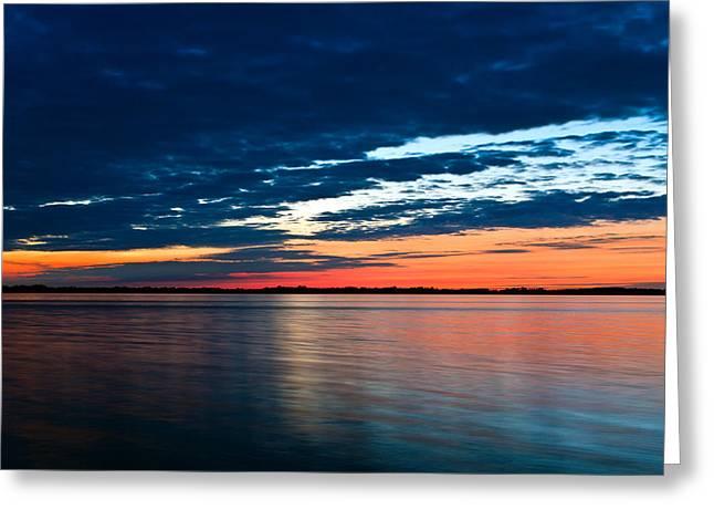 Sunset Greeting Card by Gert Lavsen