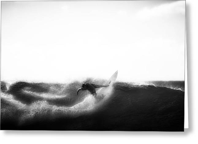 Surf Silhouette Greeting Cards - Surfing Hawaii Greeting Card by Andreas Winter