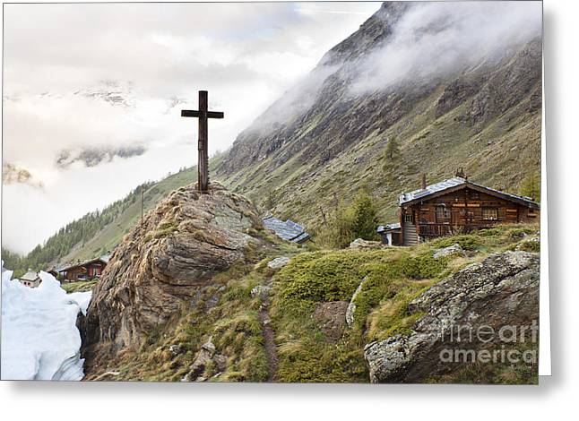 Swiss Cross Greeting Cards - Switzerland Alps Greeting Card by Andre Goncalves