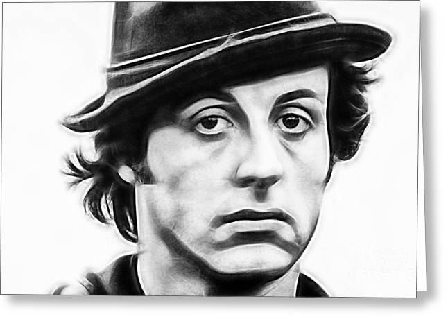 Sylvester Stallone Collection Greeting Card by Marvin Blaine