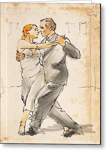 Duet Greeting Cards - Tango  Greeting Card by H James Hoff
