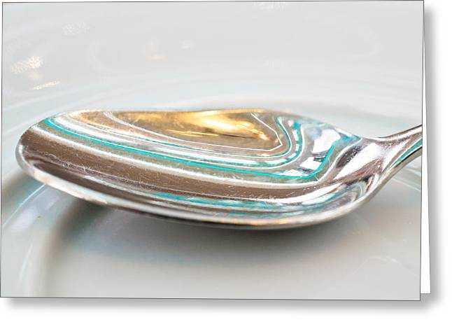 Stainless Steel Greeting Cards - Teaspoon Greeting Card by Tom Gowanlock