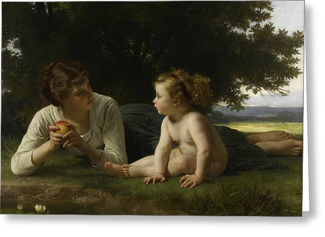 Temptation Greeting Card by William-Adolphe Bouguereau
