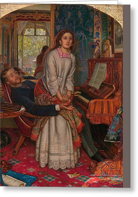 The Awakening Conscience Greeting Card by William Holman Hunt