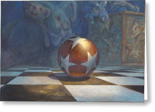 The Ball Greeting Card by Leonard Filgate