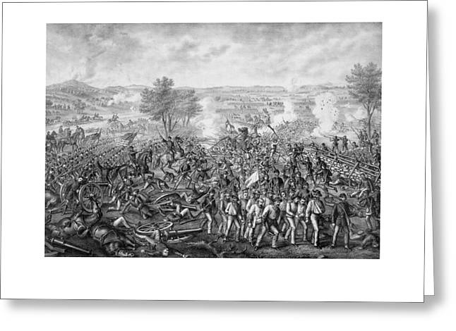 North Mixed Media Greeting Cards - The Battle of Gettysburg Greeting Card by War Is Hell Store