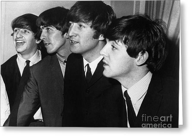 Drummers Photographs Greeting Cards - The Beatles Greeting Card by Granger