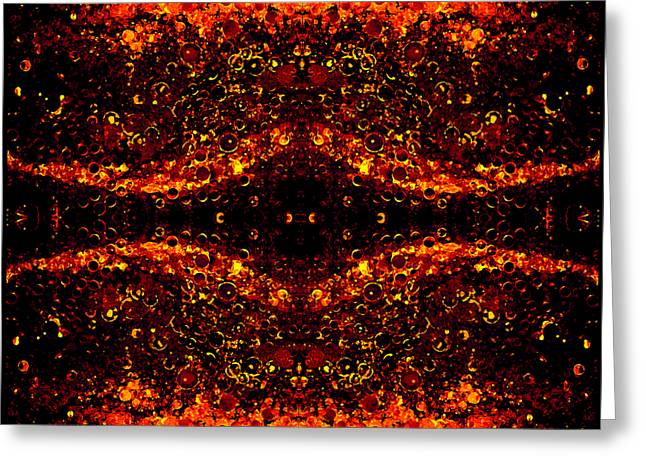 Abstract Expression Greeting Cards - The Beginning or The End Greeting Card by Angelina Vick