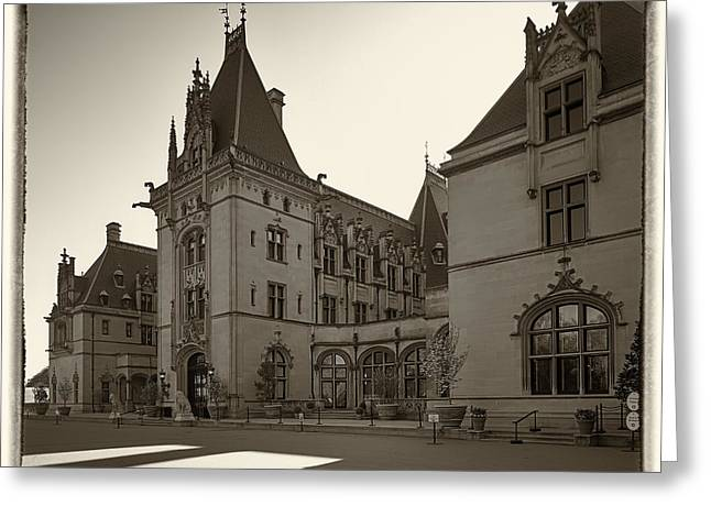 Chateau Greeting Cards - The Biltmore House in Asheville North Carolina Greeting Card by Bill McMannis