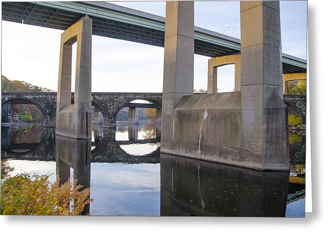Kelly Drive Digital Greeting Cards - The Bridges at East Falls Greeting Card by Bill Cannon