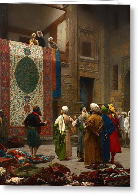 The Carpet Merchant Greeting Card by Mountain Dreams
