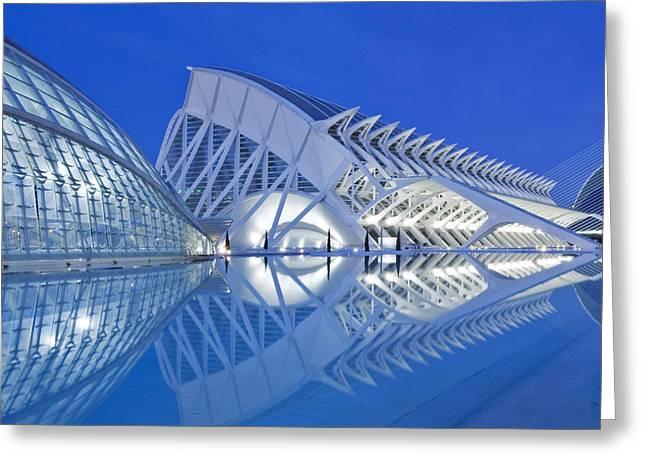 Light Effects Greeting Cards - The Ciudad De Las Artes Y De Las Greeting Card by Rob Tilley