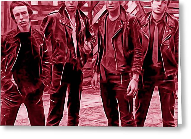The Clash Greeting Cards - The Clash Collection Greeting Card by Marvin Blaine