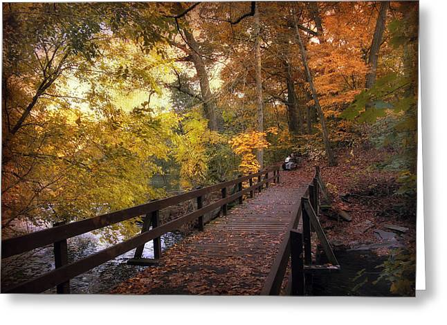 Wooden Bridges Greeting Cards - The Crossing Greeting Card by Jessica Jenney