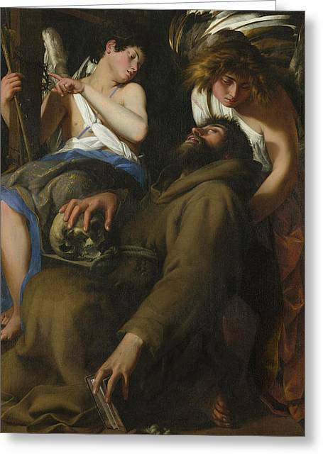 The Ecstasy Of Saint Francis Greeting Card by Giovanni Baglione