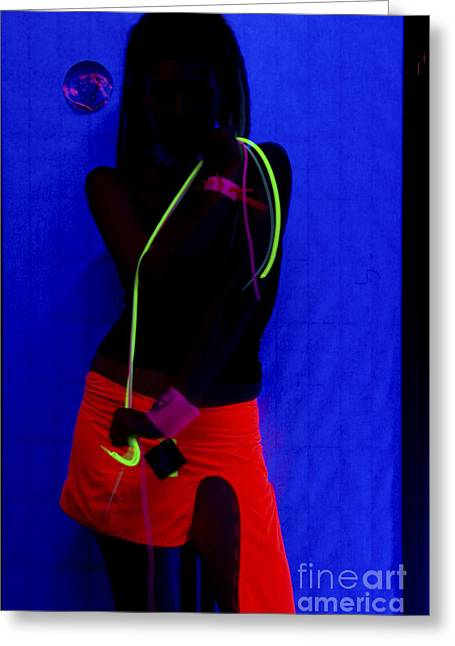 The Effects Of Uv On Reflective Clothing Greeting Card by Ilan Rosen