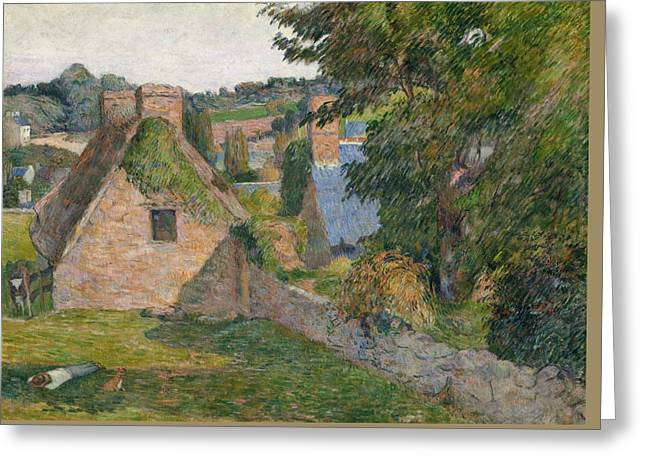 Paul Gauguin Greeting Cards - The Field of Derout-Lollichon Greeting Card by Paul Gauguin