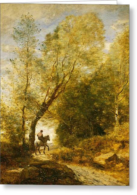The Forest Of Coubron  Greeting Card by Jean-Baptiste-Camille Corot