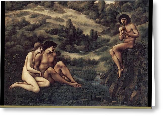 Greek Myth Greeting Cards - The Garden of Pan  Greeting Card by Edward Burne-Jones