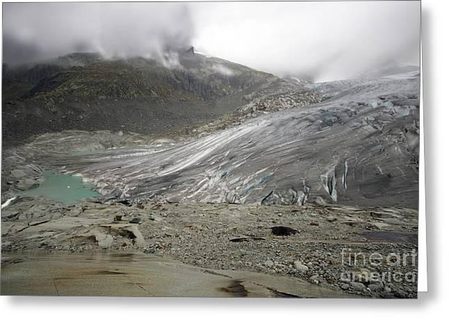 The Glacier Greeting Card by Angel  Tarantella