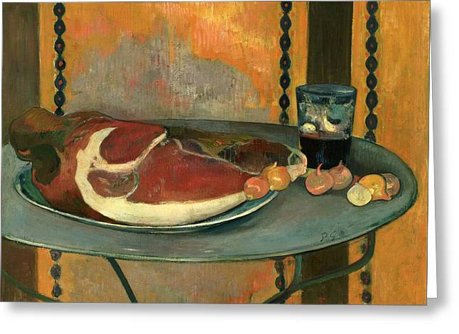 Gauguin Style Greeting Cards - The Ham Greeting Card by Paul Gauguin