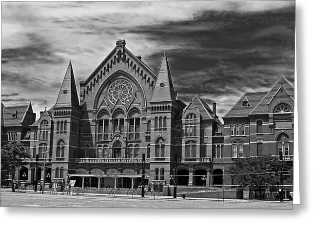 Front Entrance Greeting Cards - The Historic Cincinnati Music Hall Greeting Card by Wholtone