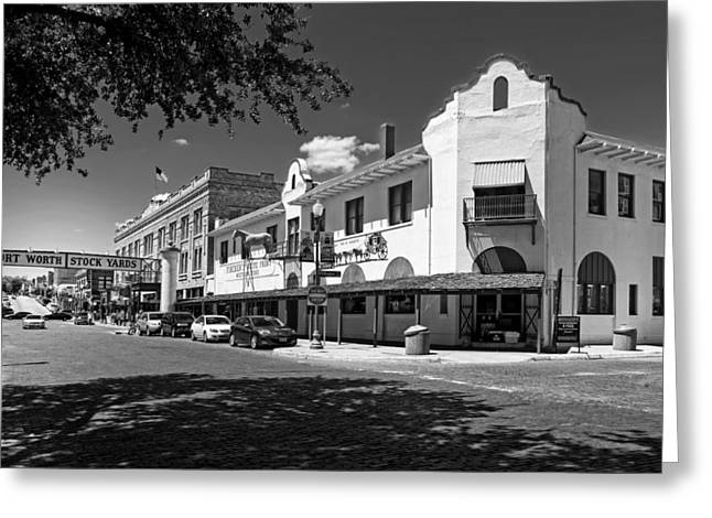 Stockyards Greeting Cards - The Historic Fort Worth Stockyards District Greeting Card by Mountain Dreams