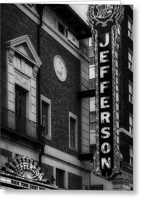 Jefferson Greeting Cards - The Historic Jefferson Theatre of Austin Greeting Card by Mountain Dreams