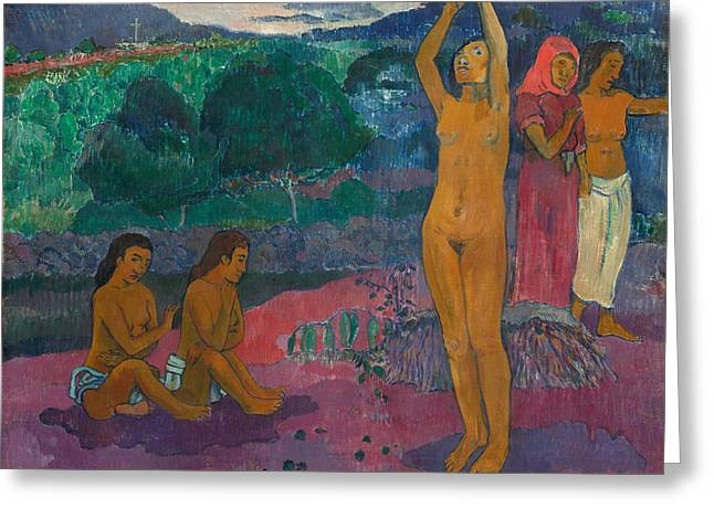 The Invocation Greeting Card by Paul Gauguin