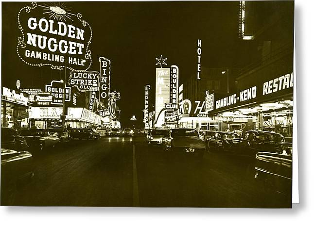 The Las Vegas Strip Greeting Card by Underwood Archives