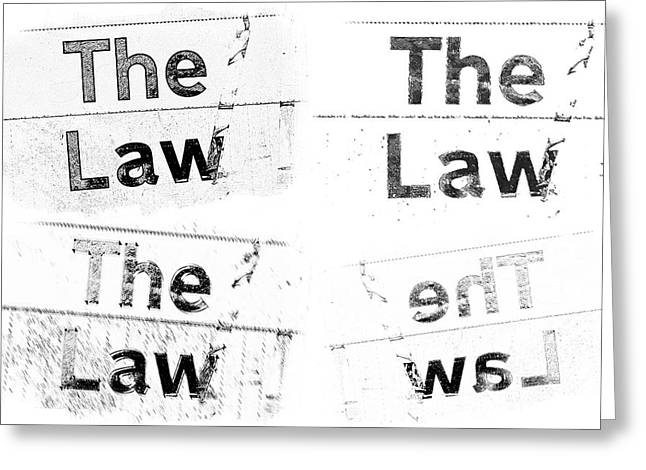 Jury Greeting Cards - The Law Greeting Card by Tom Gowanlock