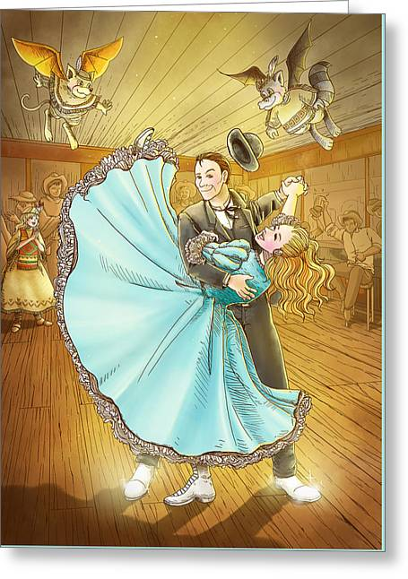 The Magic Dancing Shoes Greeting Card by Reynold Jay