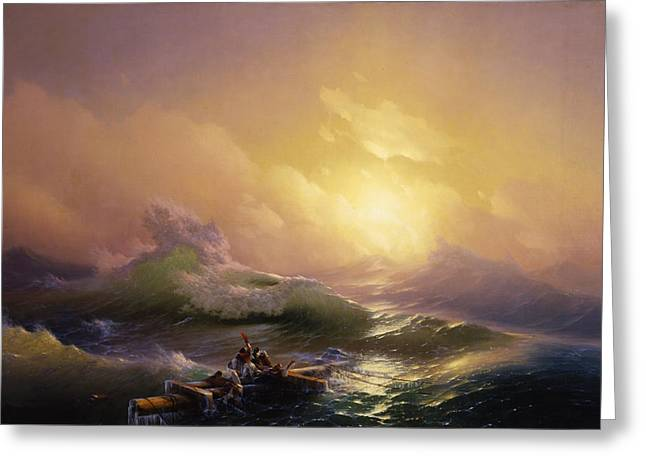 The Ninth Wave Greeting Card by Ivan Aivazovsky