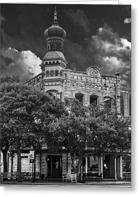 Black Lodge Photographs Greeting Cards - The Old San Gabriel Masonic Lodge Building - Georgetown Texas Greeting Card by Mountain Dreams