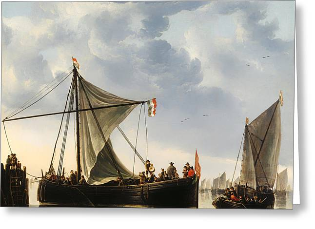 Sailboat Art Greeting Cards - The Passage Boat Greeting Card by Aelbert Cuyp