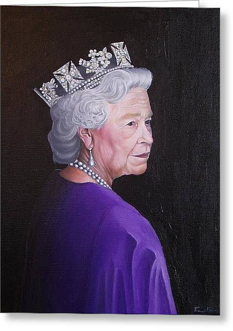 Thomas Faires Greeting Cards - The Queen Greeting Card by Thomas Faires