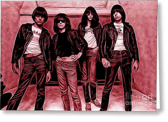 Ramones Greeting Cards - The Ramones Collection Greeting Card by Marvin Blaine