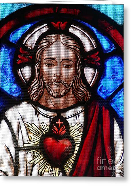 The Sacred Heart Of Jesus Greeting Card by French School