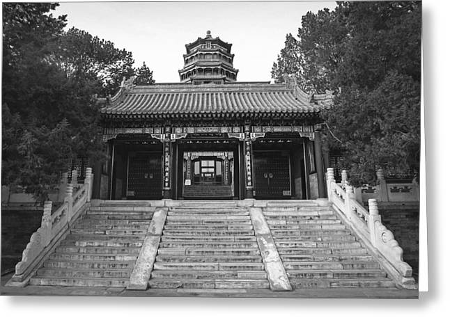 Old Beijing Greeting Cards - The Summer Palace - Beijing Greeting Card by Travel Coffee Book