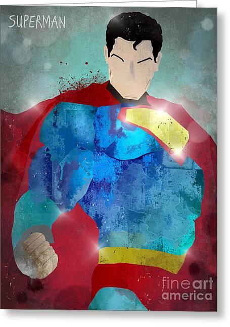 The Superman Greeting Card by Bri B