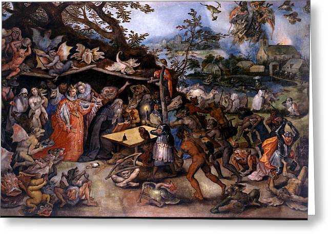 Bible Scene Greeting Cards - The Temptation of Saint Anthony Greeting Card by Jan Brueghel the Elder