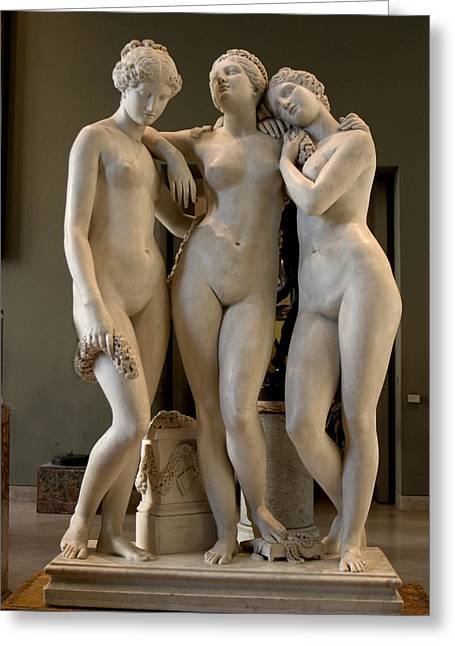 The Three Graces Greeting Card by Carl Purcell