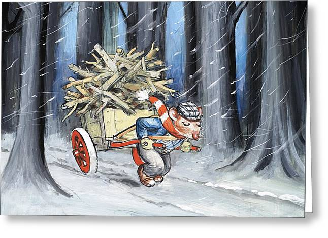 Fabled Greeting Cards - The Town Mouse and the Country Mouse Greeting Card by Philip Mendoza