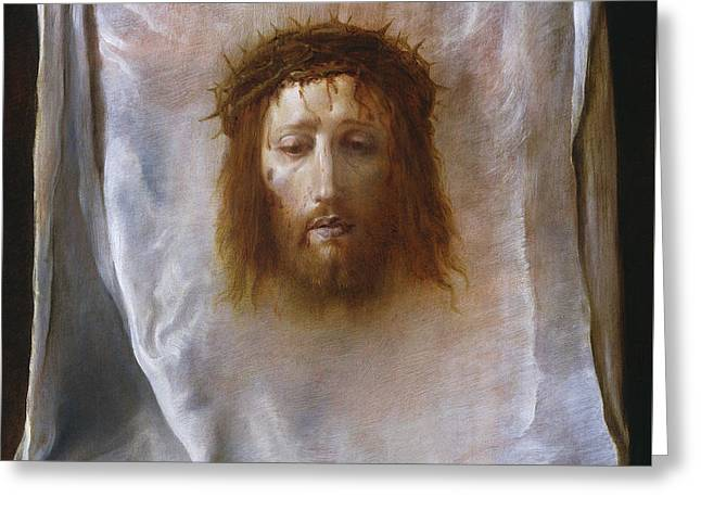 The Veil Of Veronica Greeting Card by Domenico Fetti