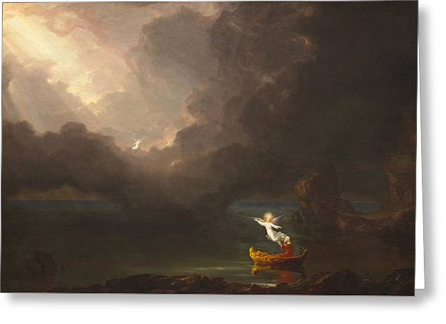 The Voyage Of Life, Old Age Greeting Card by Thomas Cole